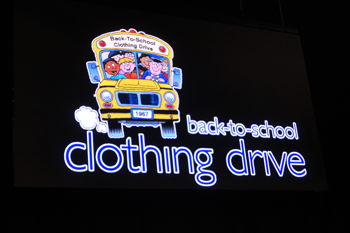 Annual Back to School Clothing Drive